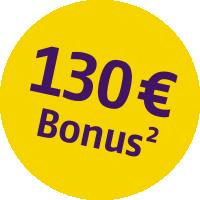 Bonus Störer - 130 EUR - 2