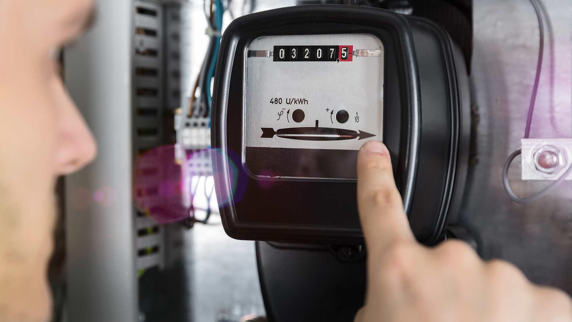 Stromzähler ablesen