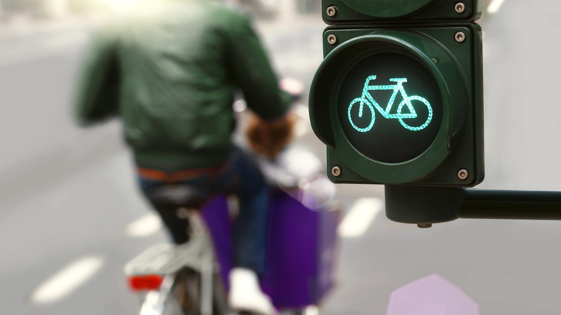 e-Lastenrad im Straßenverkehr
